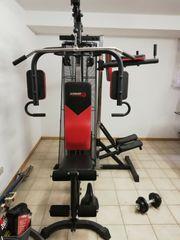 Kraftstation Fitnessturm Multigym Chrom von