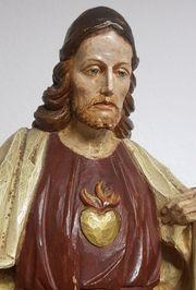 antiker Jesus mit Herz und