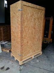 Kiste aus OSB Platten Lager
