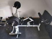 Fitness Hantelbank mit SZ Stange