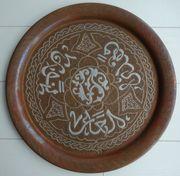 Alter Orientalischer Wandteller Tablett Teller