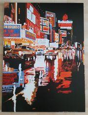 Bild mit amerikanischem Broadway-Motiv auf