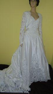 Hochzeitskleid Brautkleid Schleppe weiß Gr