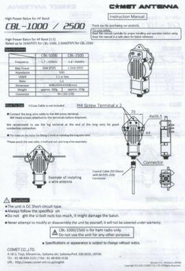 CB, Amateurfunk - Comet CBL 1000 Dipol Balun