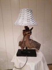 Treibholz Lampe Tischlampe Nachttischlampe 3