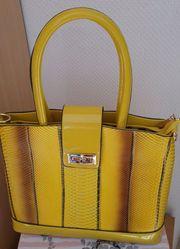 Damen Handtasche Gelb Orginal aus