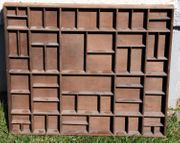 Setzkasten Holz braun