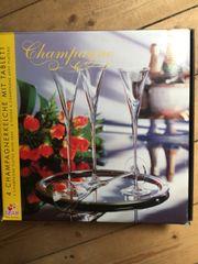 Champagnerkelche mit Tablett neu