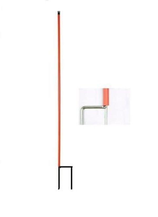 8x Ersatzpfahl für Schafnetz Doppelspitze rot - 106 cm