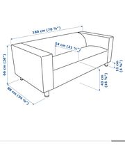 Sofa der Marke Klippan OHNE