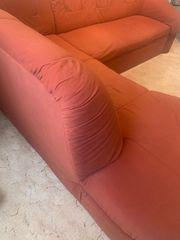 Eckcouch mit Schlaffunktion u Sessel