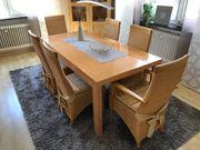 Eßzimmertisch mit 6 Stühlen