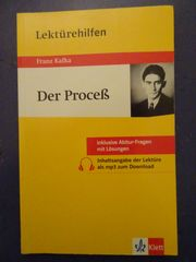 Lektürehilfen Franz Kafka Der Proceß
