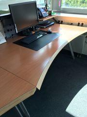 ergonomischer Büro Schreibtisch Buche 160x80