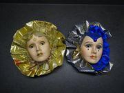Venezianische Wandmasken 2 Stück