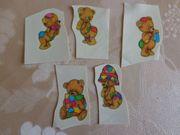 Teddy-Tattoos 5 Stück klein Bügelbilder