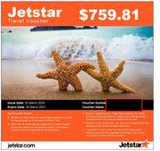 Jetstar Flug Gutscheine Voucher Coupons