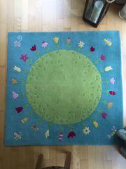 Kinderteppich grün Teppich Kinder Haba