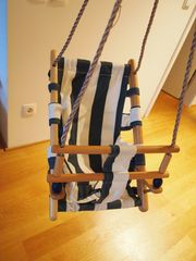 Holz- Stoff Babyschaukel