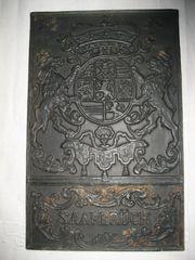 Saarbrück Wappen 1733 Metallbild verm