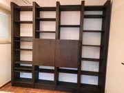WK Bücherwand schwarz weiss gebürstete