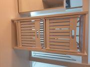 Regal weiß mit 2 Korbschubladen