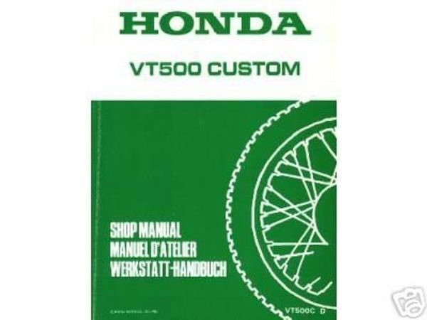 Honda VT 500C Reparaturhandbuch