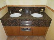 Doppelwaschtisch Waschtisch Granitplatte Waschbecken BOBRICK