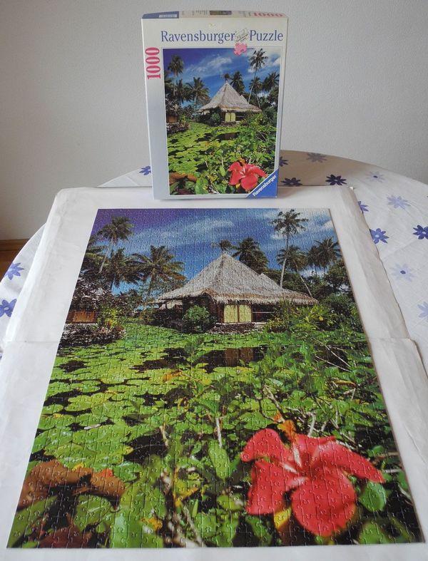 Puzzle Tahiti Haus am See