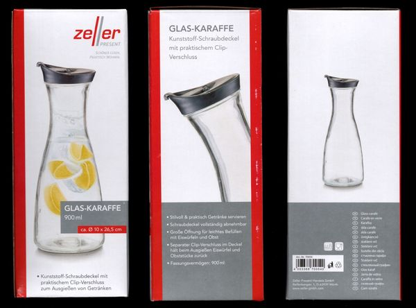 Glas Karaffe 900 ml Spender