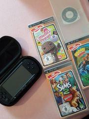 PSP 4 Spiele u Ladekabel