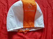 Motorradhelmhülle Org Schubert weiss orange
