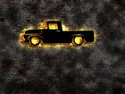 3D LED Wandbild Ford Granade