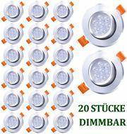 20x LED Einbaustrahler Dimmbar Flach