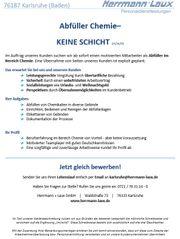 Abfüller Chemie- KEINE SCHICHT m