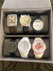 6 Armbanduhren verschiedener Marken