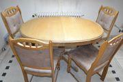 Esszimmer-Tisch oval mit 6 Stühlen