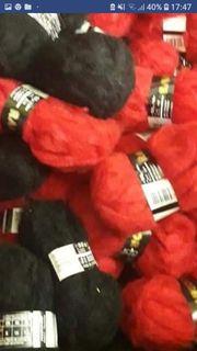 Verkaufe Wolle in Farbe Schwarz