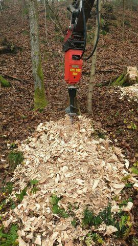 Nutzfahrzeug-Teile, Zubehör - Baumstumpffräse Wurzelstockfräse Erdbohrer Kegelspalter Bagger