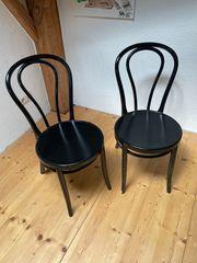 2 Stühle schwarz gebraucht