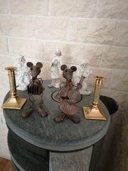 Kerzenleuchter Porzelangruppe und