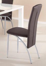 4x Esszimmer-Stühle in braun Küchenstühle
