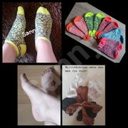 getragene Socken Nylonsocken