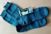 selbstgestrickte Strümpfe aus Regia-Wolle