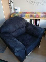 Wohnzimmer-Sessel blau grau