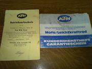 Betriebserlaubnis für KTM Pony