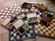 Schach Bretter Figuren in Holzschachtel