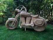 Motorrad aus Rattan Harley Dekoration