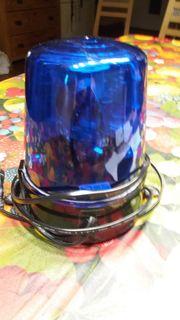 Disco Polizeilicht blau