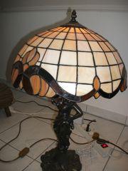Tiffanylampe 2 Zinnkrüge Altes Soldatenfoto